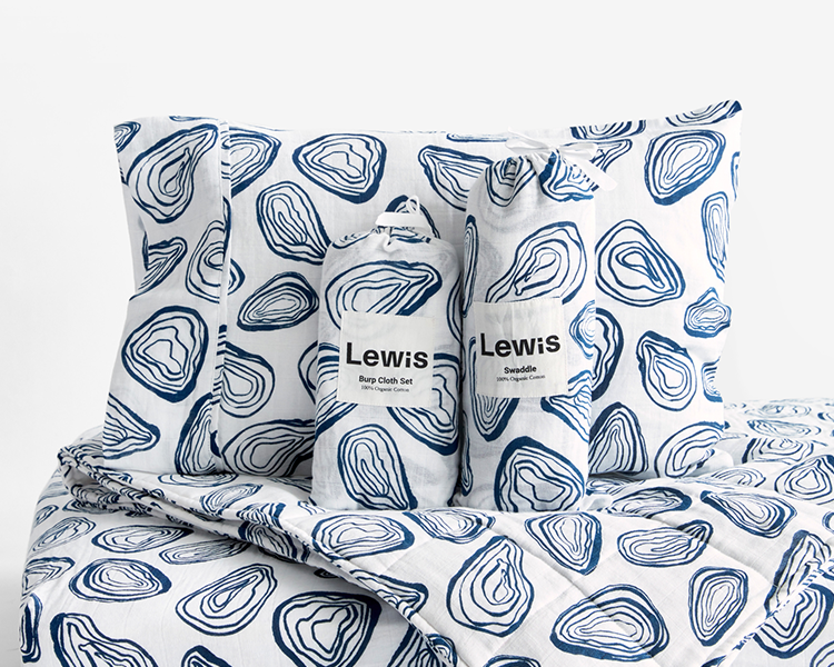 Lewis makes the best 100% organic cotton crib sheets, quilts and baby blankets for baby and kids