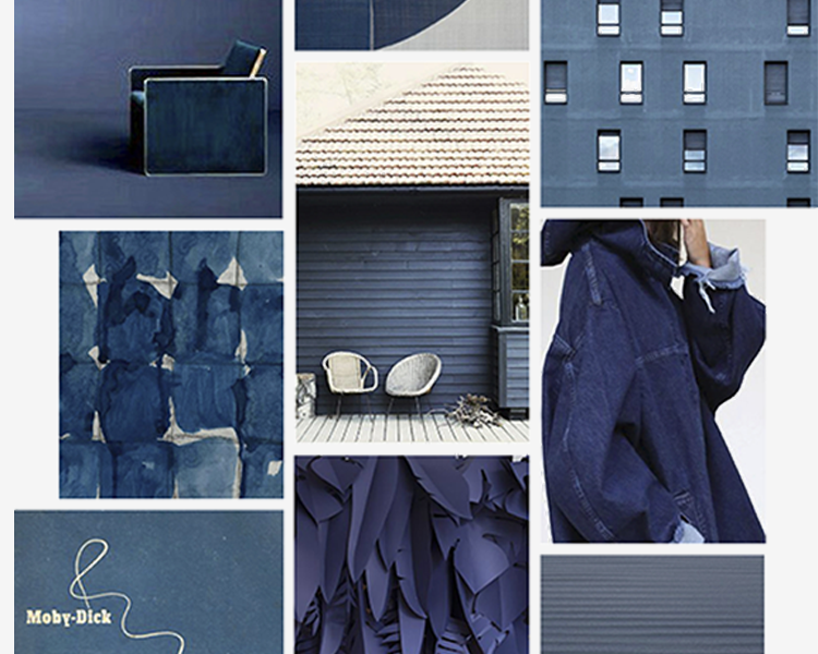 Denim is Lewis's deep navy color in organic textiles for baby + kids