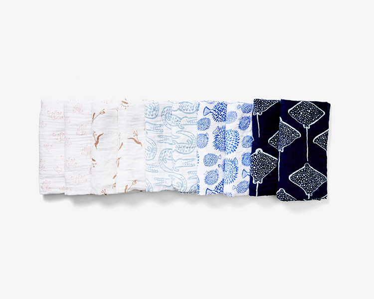 100% organic cotton burp cloths are one of the most used products by parents
