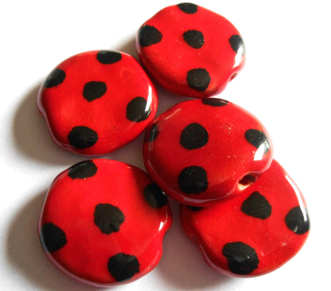 PitaPat: Dots - Bright Red and Black