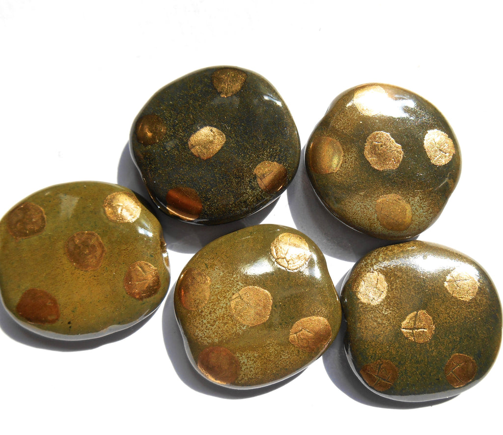 PitaPat: Rock Garden with 14kt Gold Dots