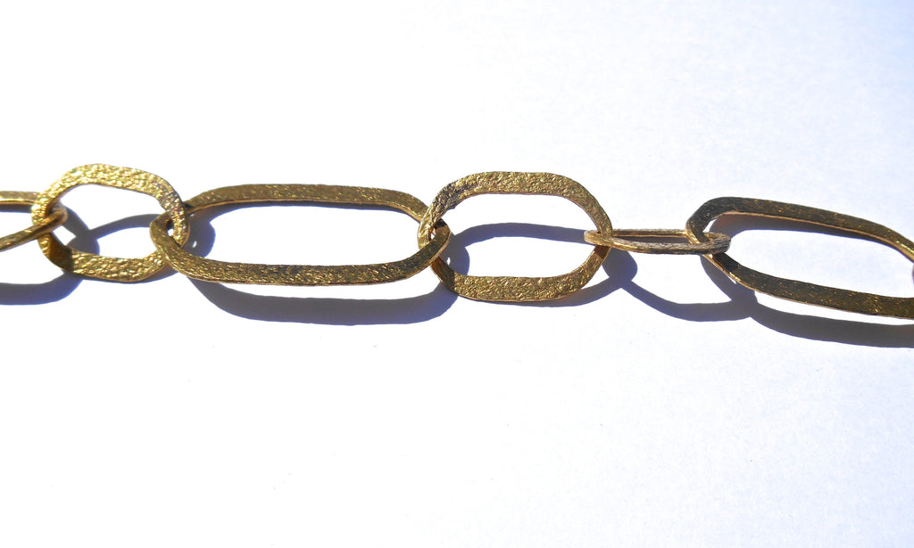 Brass Chain: Hammered Ovals