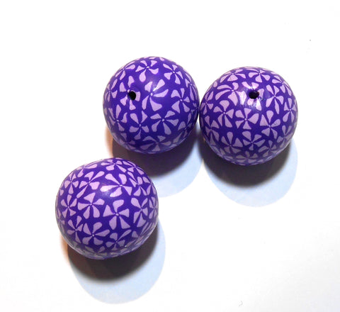 Bindu - Purple and White