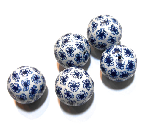 Bindu - Navy and White