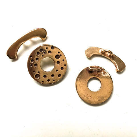 Spotted Bronze Toggle Clasp