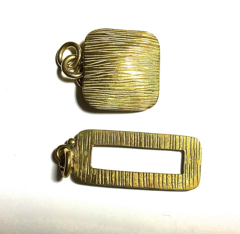 Square and Rectangle Toggle Clasp