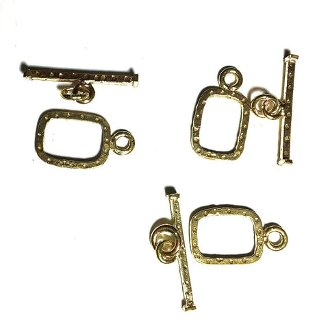 Small Rectangle Toggle Clasps - 3 pack