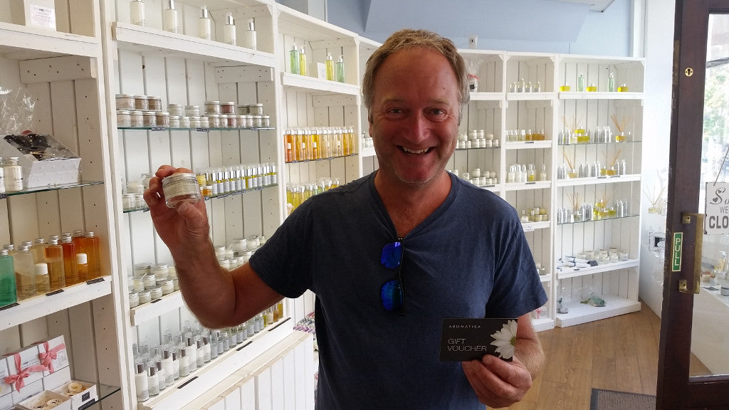 A very happy winner of our June competition