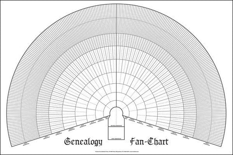 Genealogy Pedigree Fan Chart: 10 Generation - Masthof Press - 1