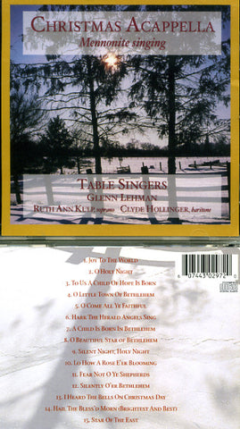 Christmas Acappella: Mennonite Singing CD - The Table Singers