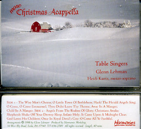 More Christmas Acapella: Mennonite Singing cassette tape - The Table Singers
