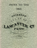 "Index to the ""1864 Bridgen's Atlas of Lancaster Co., Pennsylvania"""