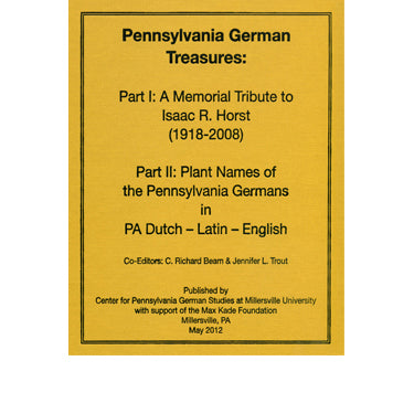 Pennsylvania German Treasures - edited by C. Richard Beam and Jennifer L. Trout