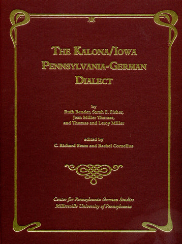 The Kalona/Iowa Pennylvania-German Dialect