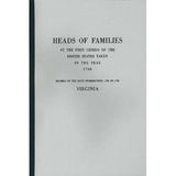 Heads of Families at the First Census of the United States Taken in the Year 1790: Virginia - Masthof Bookstore