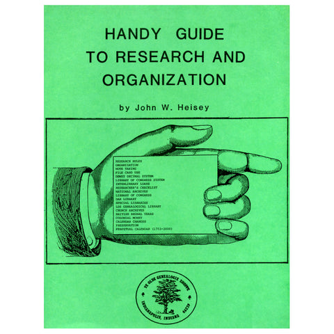 Handy Guide to Research and Organization - John W. Heisey