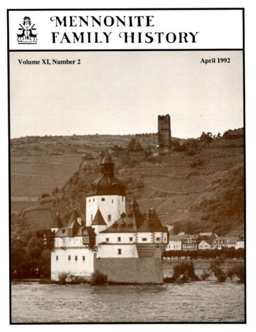 Mennonite Family History April 1992 - Masthof Press