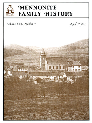 Mennonite Family History April 2002 - Masthof Press