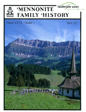 Mennonite Family History April 2007 - Masthof Press