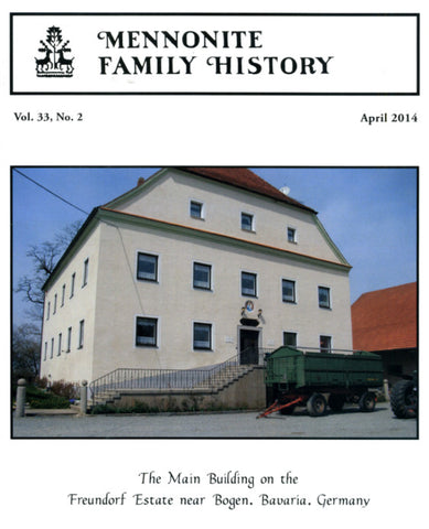 Mennonite Family History April 2014 - Masthof Press