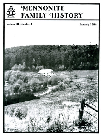 Mennonite Family History January 1984 - Masthof Press