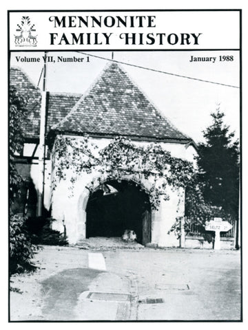 Mennonite Family History January 1988 - Masthof Press