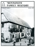 Mennonite Family History January 1990 - Masthof Press