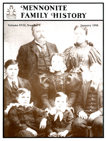 Mennonite Family History January 1998 - Masthof Press