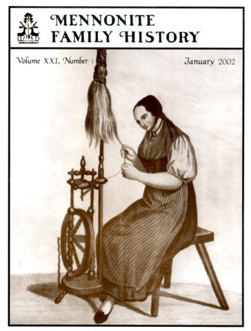 Mennonite Family History January 2002 - Masthof Press