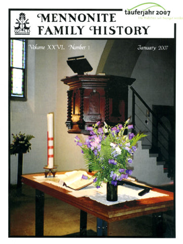 Mennonite Family History January 2007 - Masthof Press