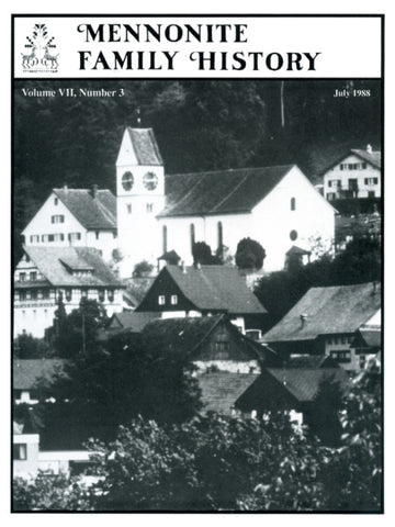 Mennonite Family History July 1988 - Masthof Press