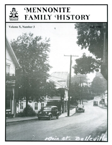 Mennonite Family History July 1991 - Masthof Press