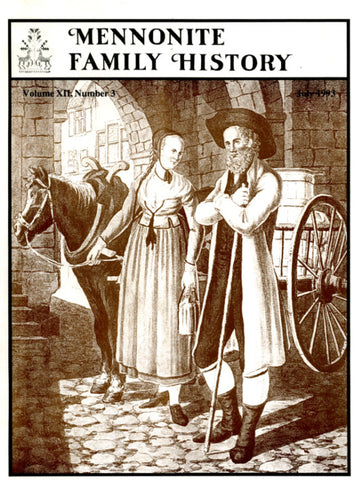 Mennonite Family History July 1993 - Masthof Press