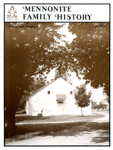 Mennonite Family History July 1995 - Masthof Press