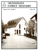 Mennonite Family History July 1998 - Masthof Press