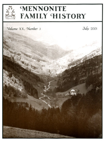 Mennonite Family History July 2001 - Masthof Press