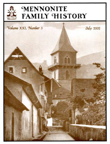Mennonite Family History July 2002 - Masthof Press