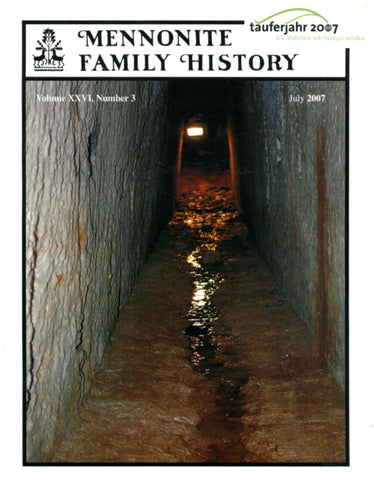 Mennonite Family History July 2007 - Masthof Press