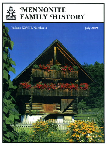 Mennonite Family History July 2009 - Masthof Press