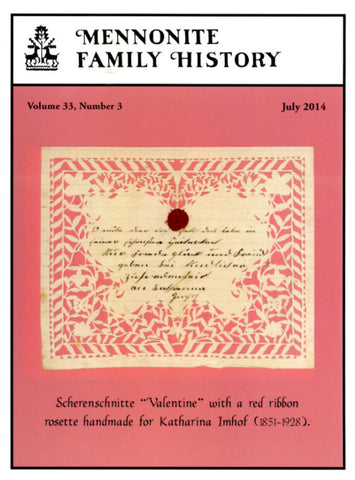 Mennonite Family History July 2014 - Masthof Press