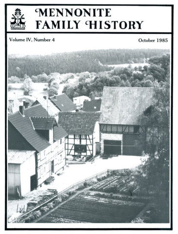 Mennonite Family History October 1985 - Masthof Press