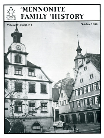 Mennonite Family History October 1986 - Masthof Press