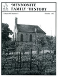 Mennonite Family History October 1987 - Masthof Press