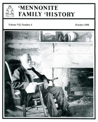Mennonite Family History October 1988 - Masthof Press