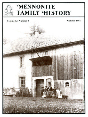 Mennonite Family History October 1992 - Masthof Press