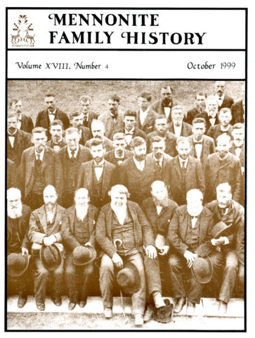 Mennonite Family History October 1999 - Masthof Press