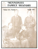 Mennonite Family History October 2000 - Masthof Press