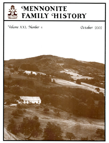 Mennonite Family History October 2002 - Masthof Press