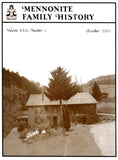 Mennonite Family History October 2003 - Masthof Press