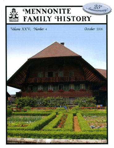 Mennonite Family History October 2006 - Masthof Press